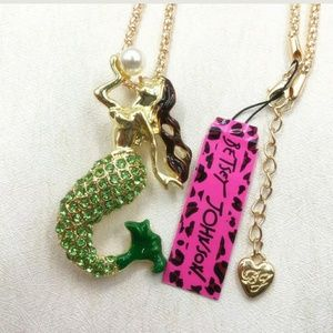 Betsey Johnson Mermaid Sweater Necklace and Brooch